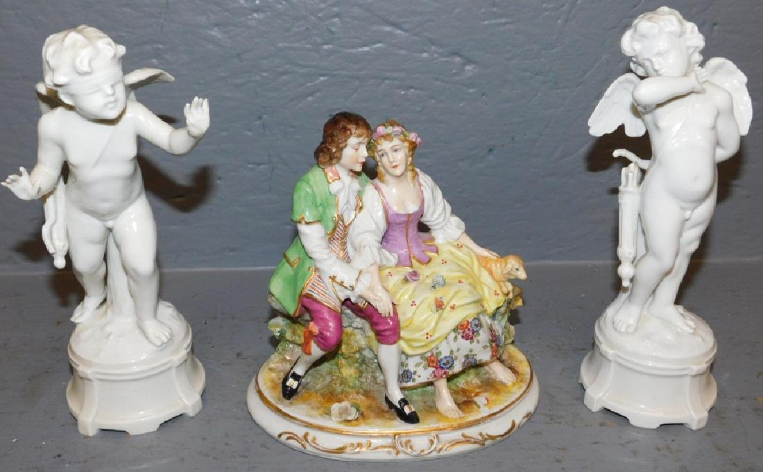 Pr Capodimonte porc figurines & HP German figure