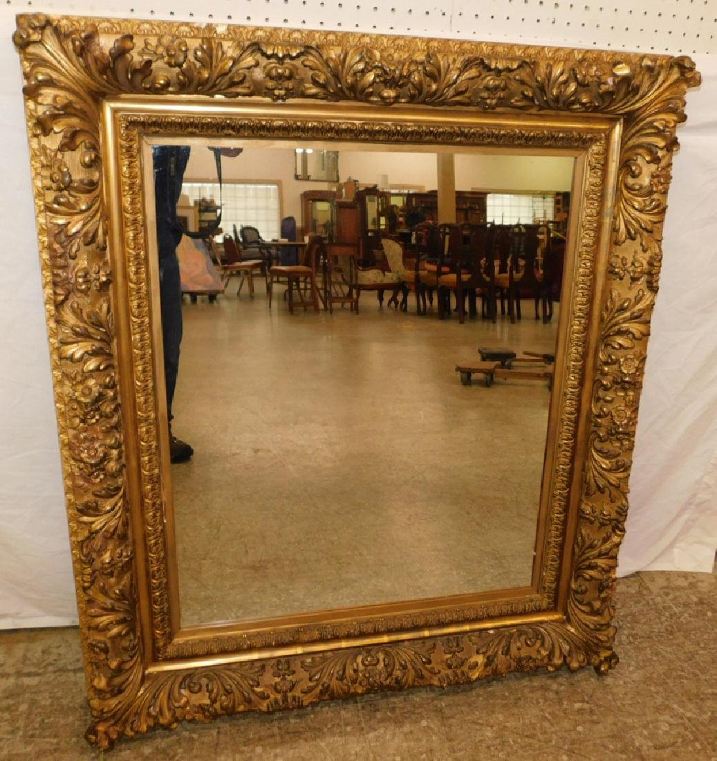 "Gilt framed Mirror. 37 1/2"" x 44"""