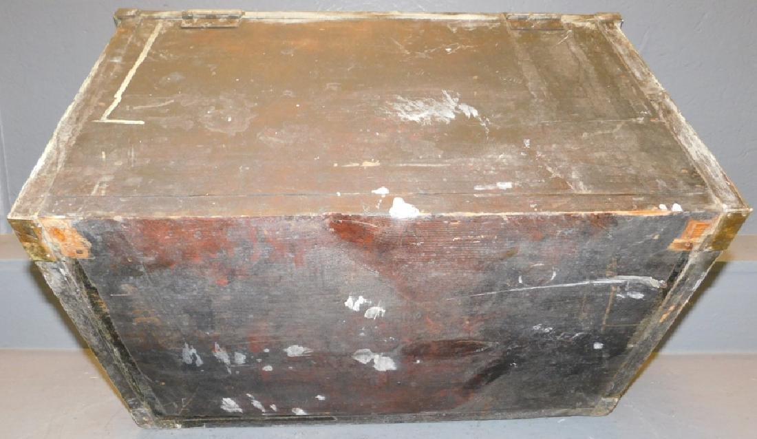 19th c Polished brass kindling box. - 8