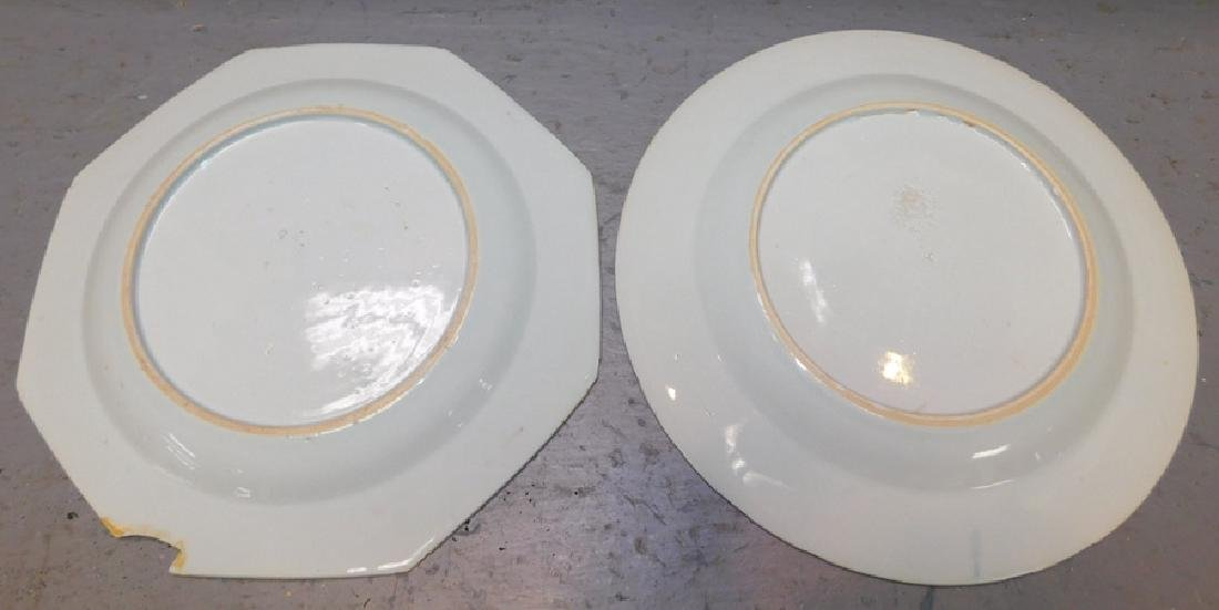 2 18th c Chinese export plates. One with chip - 2
