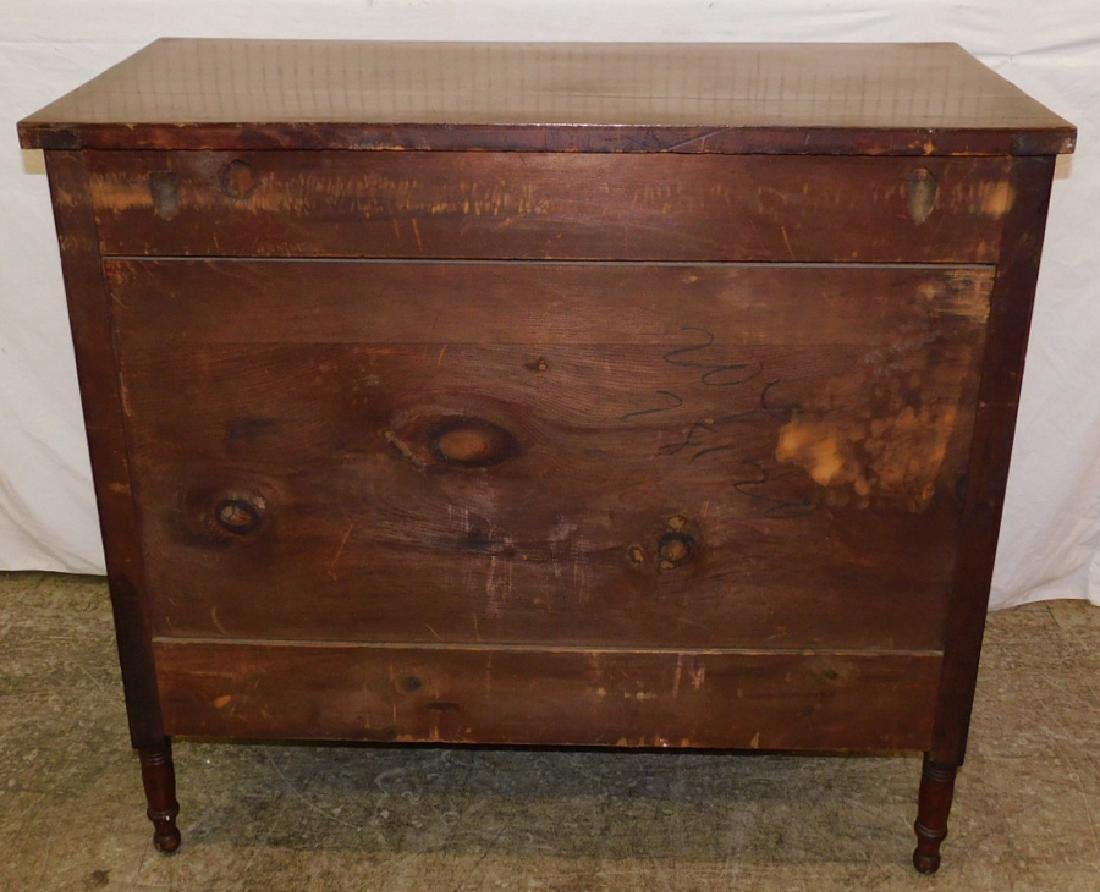 American four drawer mahogany Sheraton chest. - 3