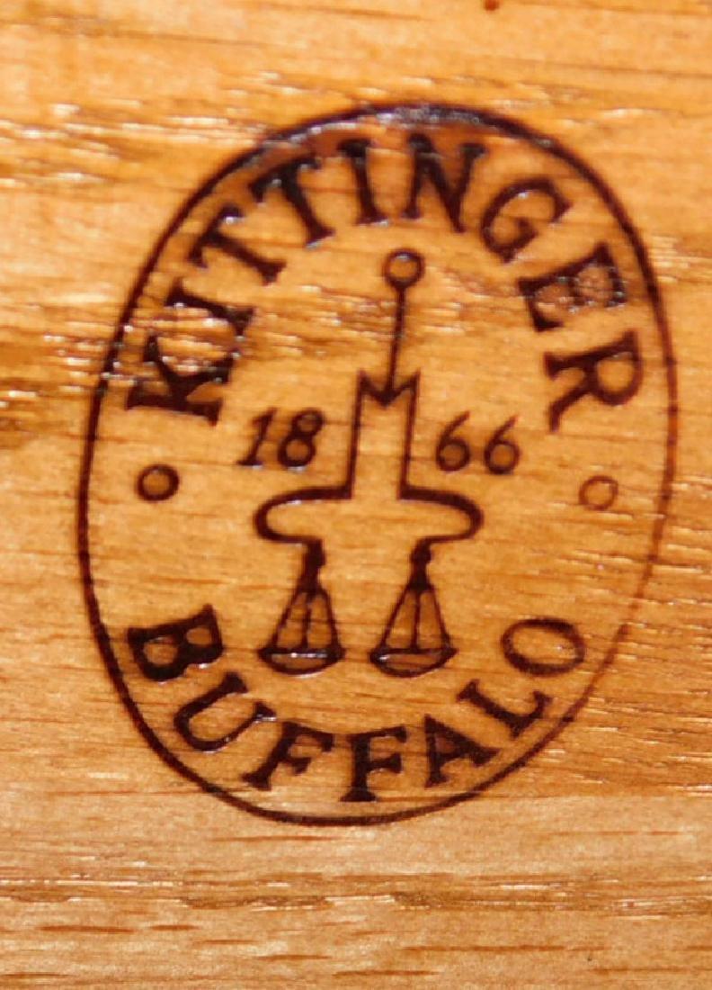 Mahogany inlaid bow front Kittinger side board. - 3