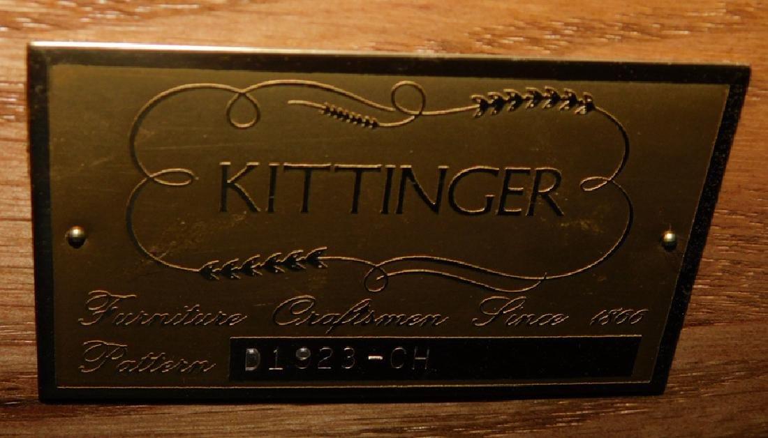 Mahogany inlaid bow front Kittinger side board. - 4