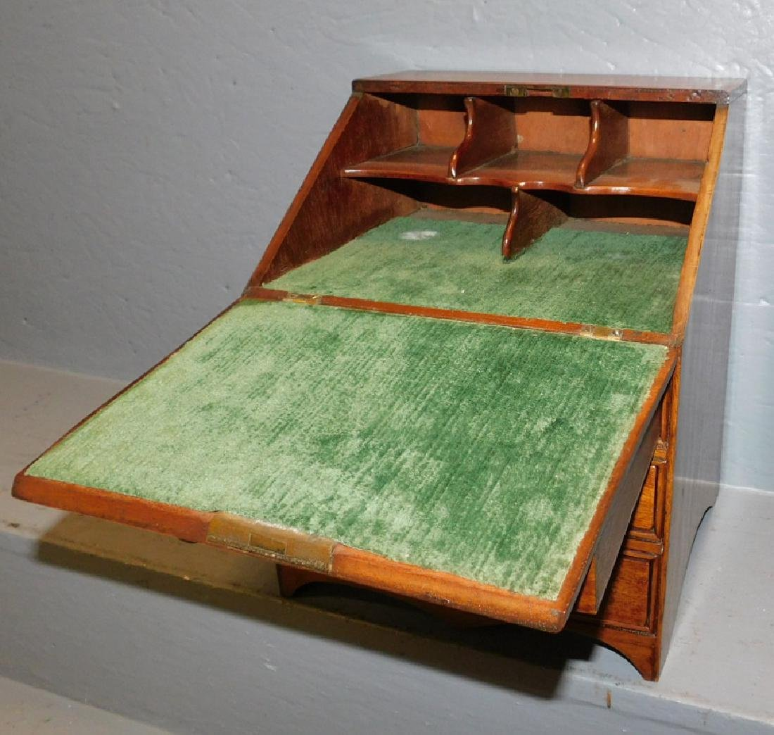 Miniature mahogany slant front desk. - 2