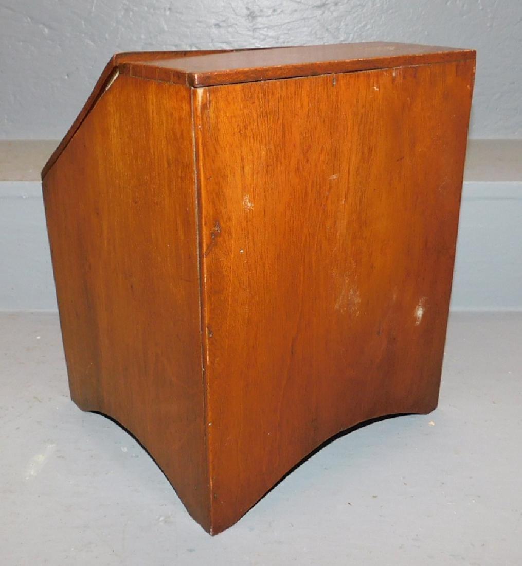Miniature mahogany slant front desk. - 3