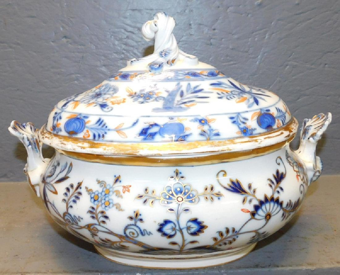 "Signed Meissen soup tureen. 13"" wide x 9"" tall."
