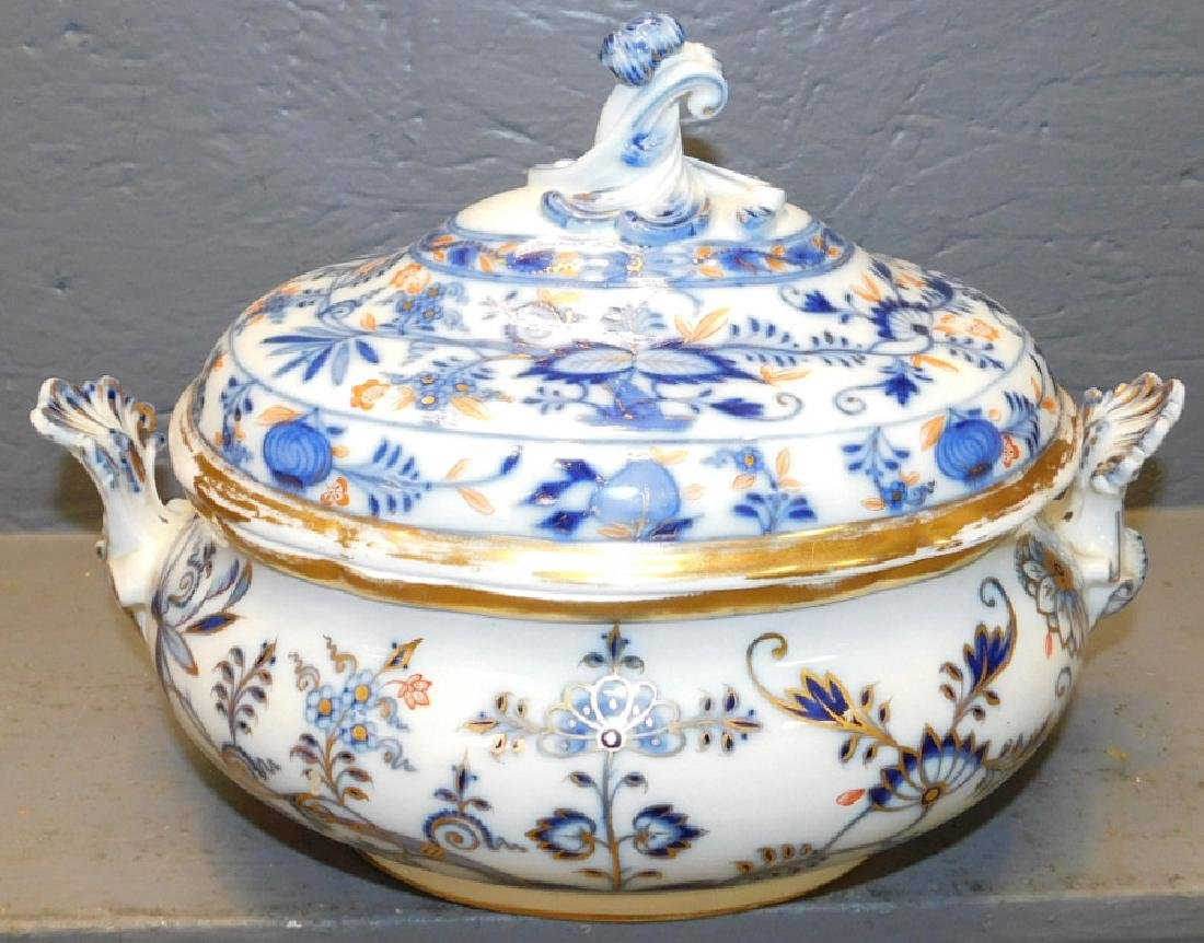 "Signed Meissen soup tureen. 13"" wide x 9"" tall. - 2"