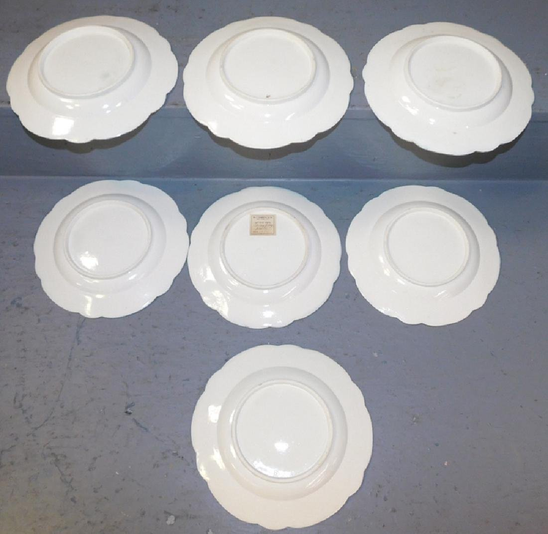 8 Caughley English cream ware plates dated 1770 - 4