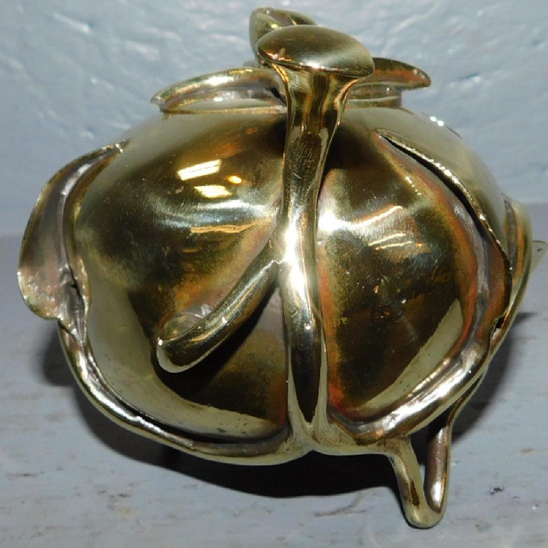 "19th century polished bronze censer. 5"" long. - 5"