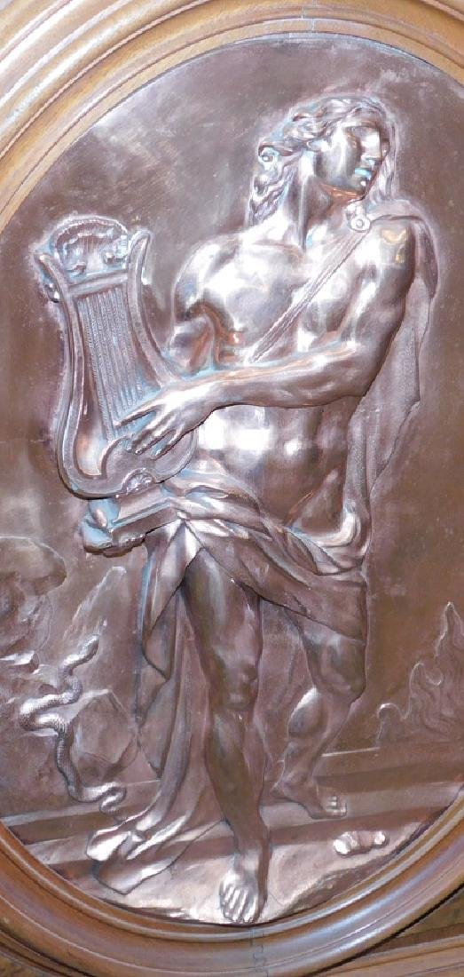 Victorian walnut credenza with large bronze plaque - 2
