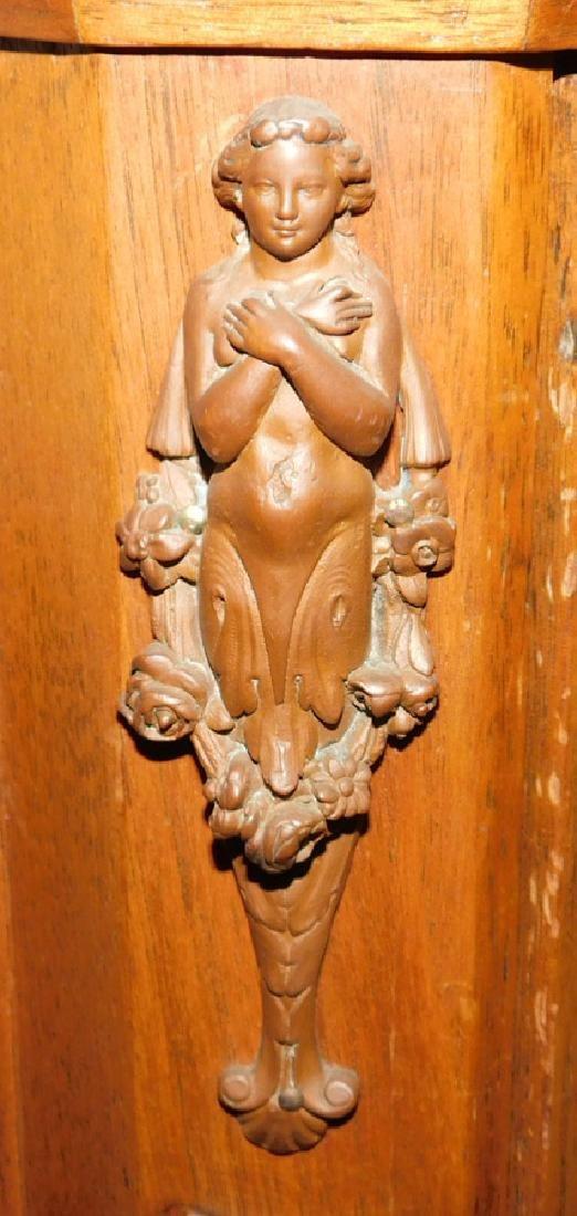 Victorian walnut credenza with large bronze plaque - 3