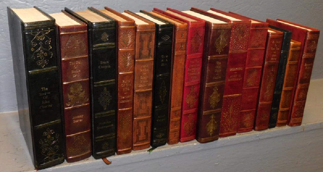 15 full leather bound books.