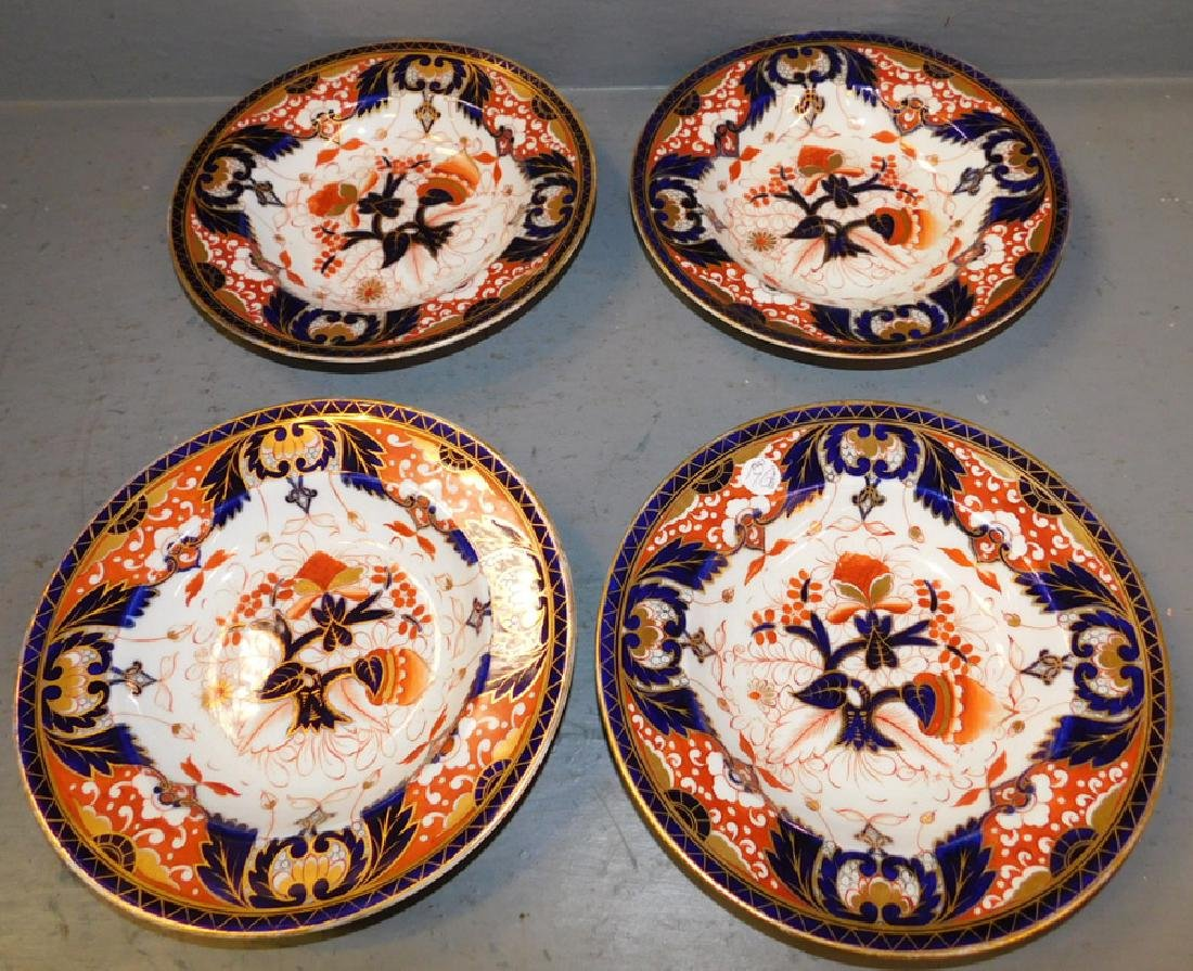 """Set of 4 Chamberlains' Worcester plates. 10"""" dia."""