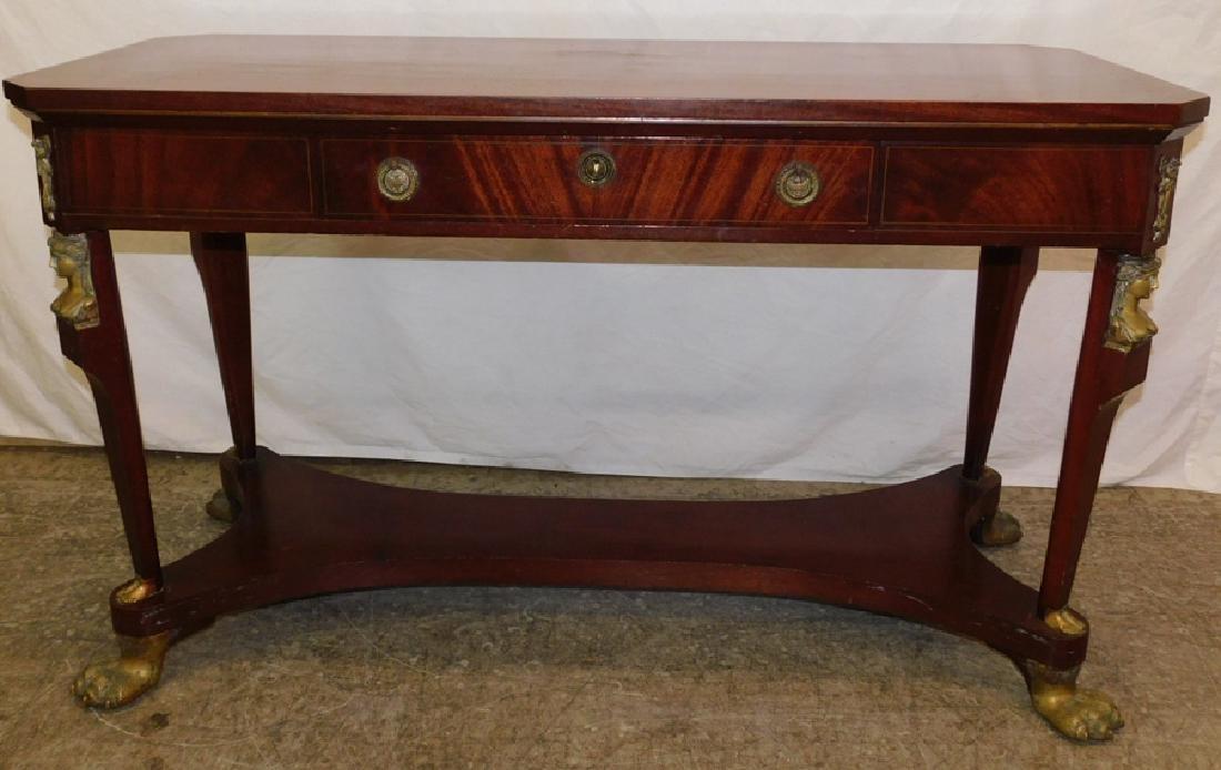 Mahogany Renaissance Revival center table.