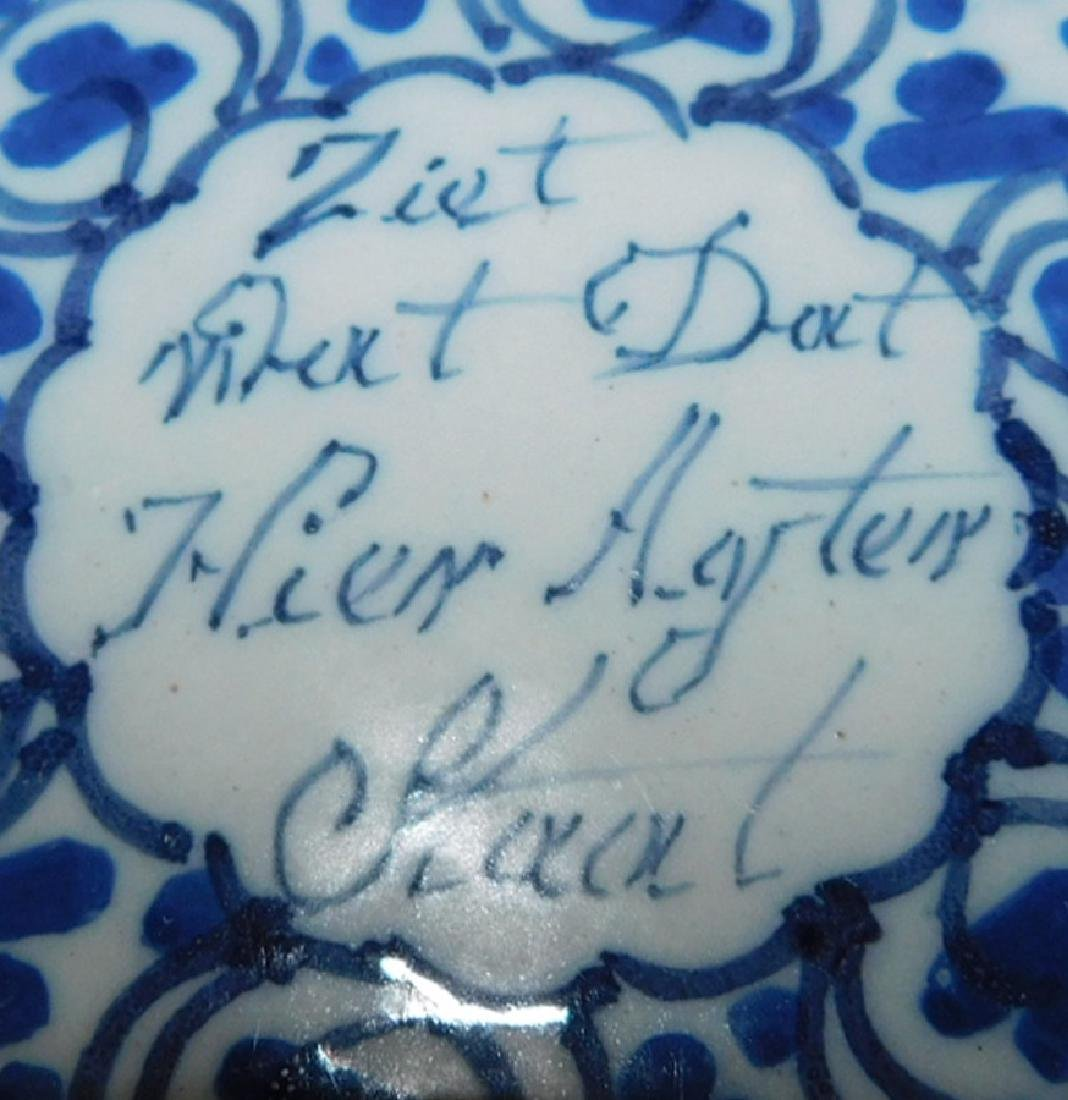 Pr German signed Delft plates in good condition - 2