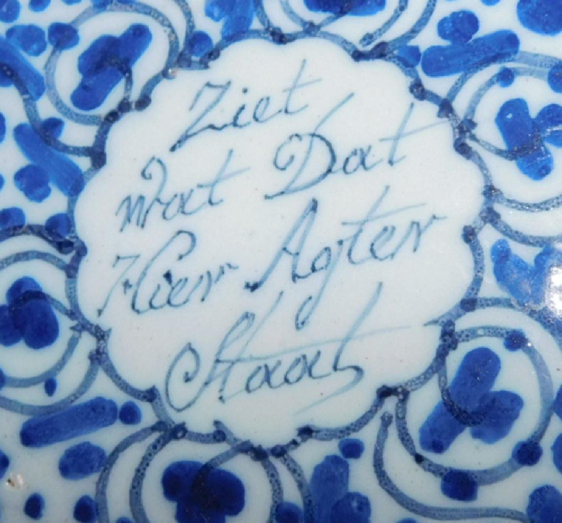 Pr German signed Delft plates in good condition - 3