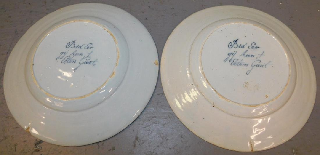 Pr German signed Delft plates in good condition - 4