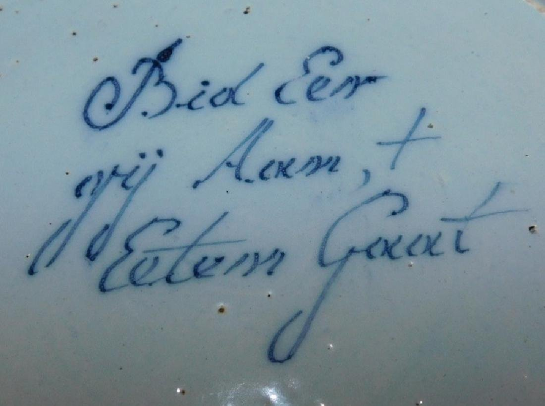 Pr German signed Delft plates in good condition - 5