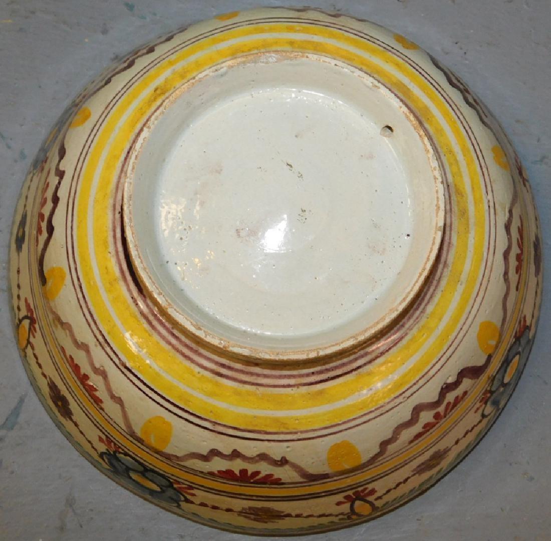 """18th century polychrome Delft bowl. 8 1/2"""" dia. - 3"""