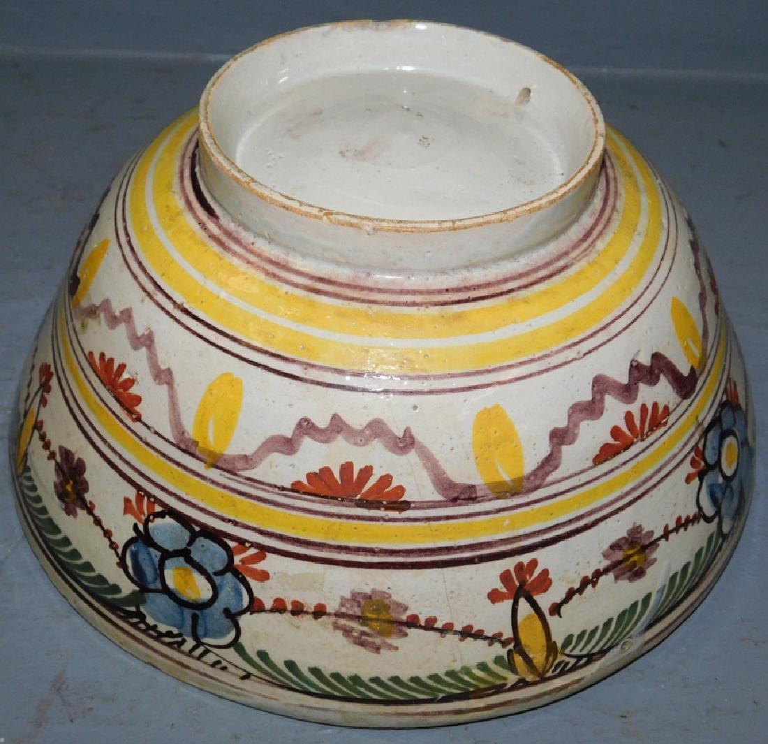 """18th century polychrome Delft bowl. 8 1/2"""" dia. - 4"""