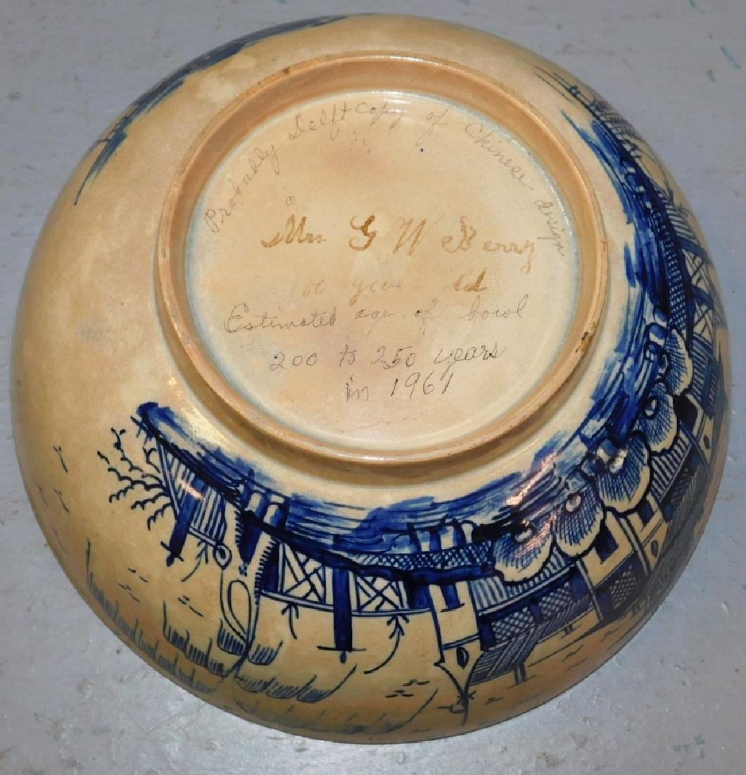"""Early 18th century Chinese bowl .9"""" dia. - 3"""