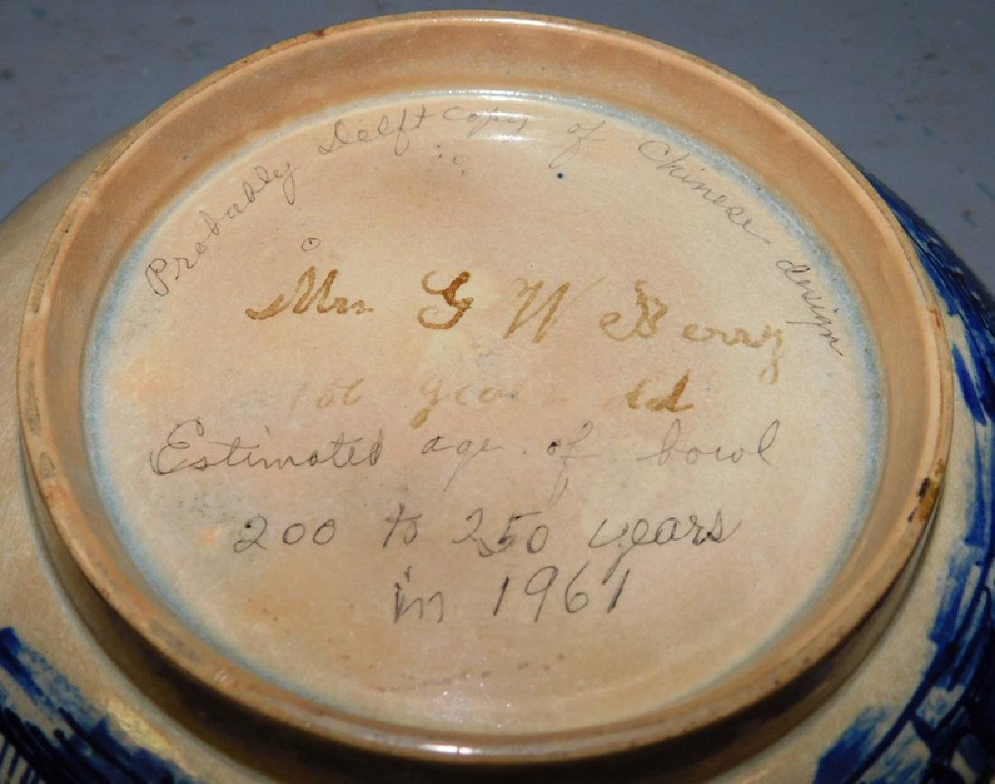 """Early 18th century Chinese bowl .9"""" dia. - 4"""
