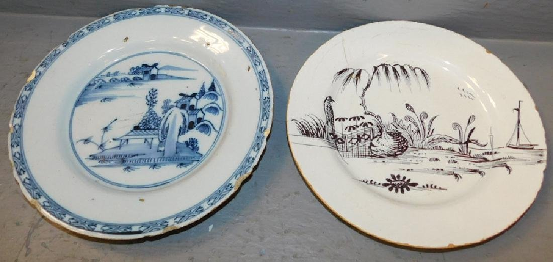 black and white Delft plate & blue & wh Delft plate