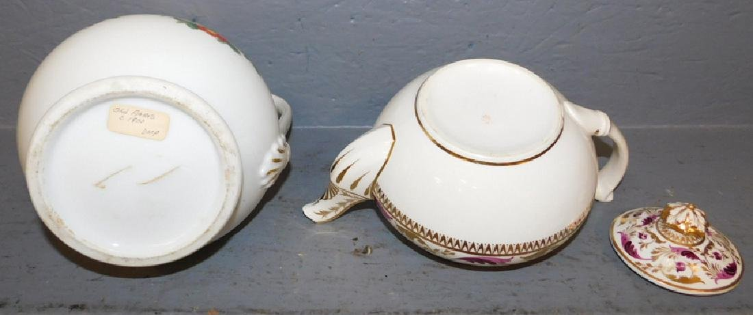 Crown Derby teapot and Old Paris pitcher. - 3