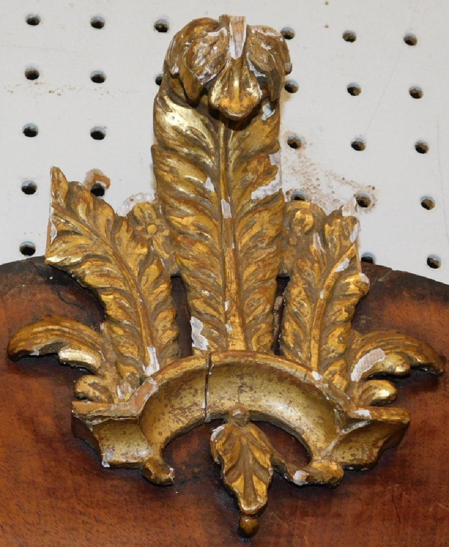 18th c QA burl walnut mirror - 2