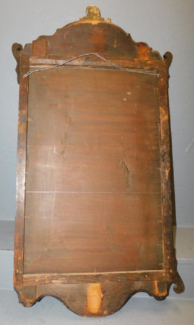 18th c QA burl walnut mirror - 5