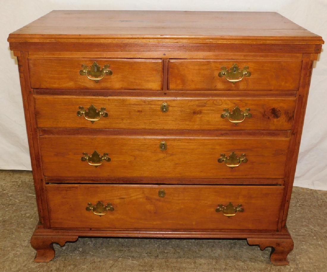 So walnut reeded corner column bachelors chest