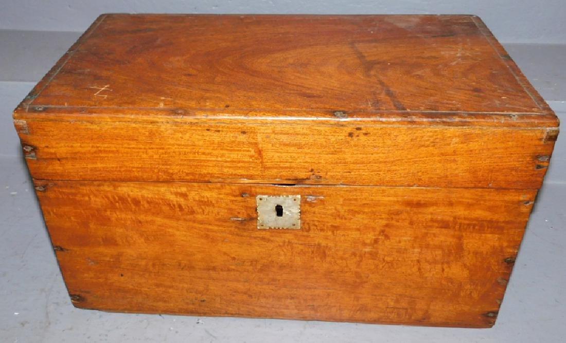 19th century miniature walnut blanket box
