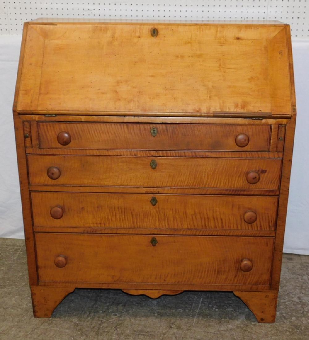 American tiger maple slant front desk.