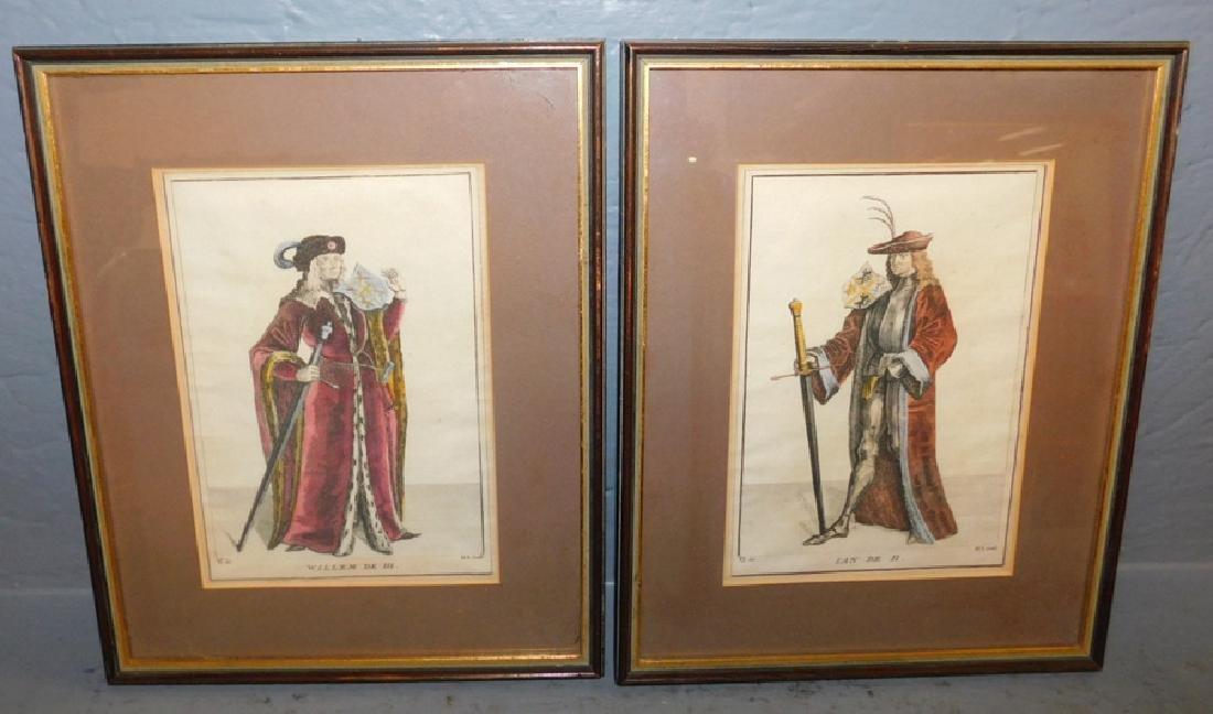 Pr engravings of King William III & King Ian II.
