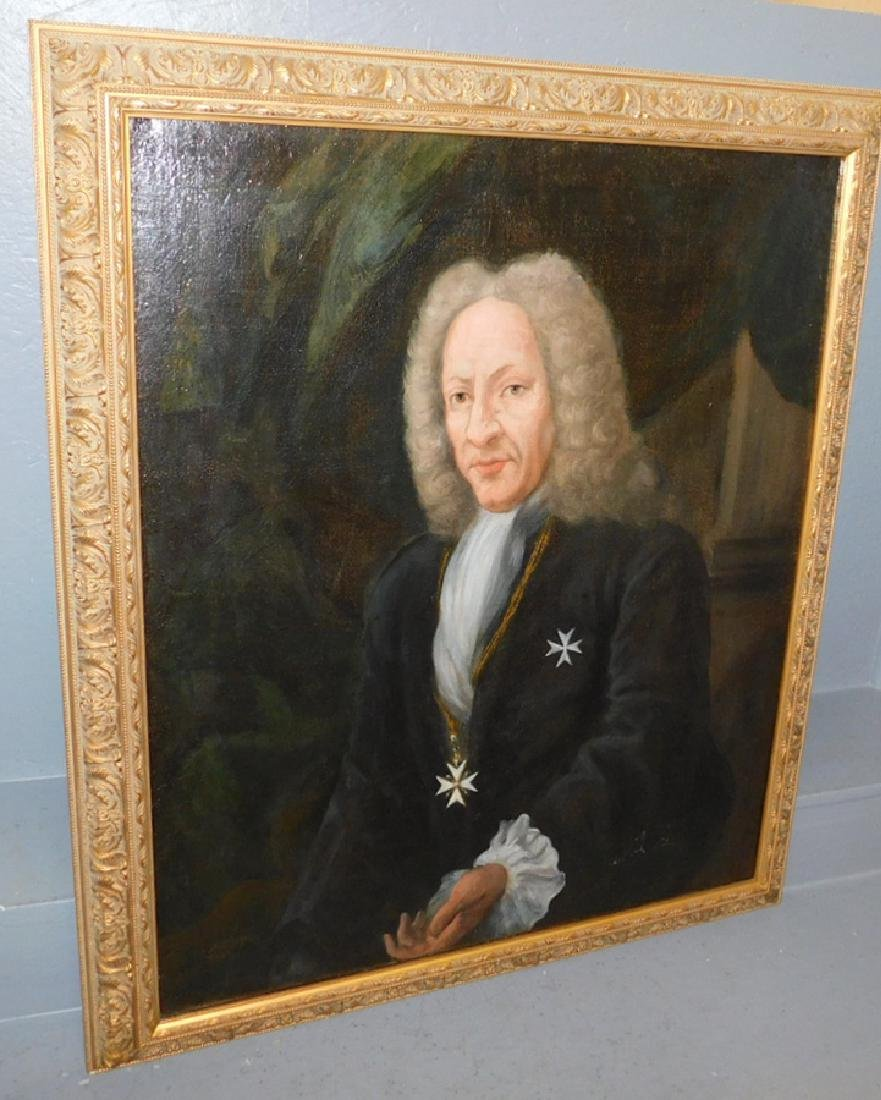 18th century Oil on canvas portrait of nobleman.