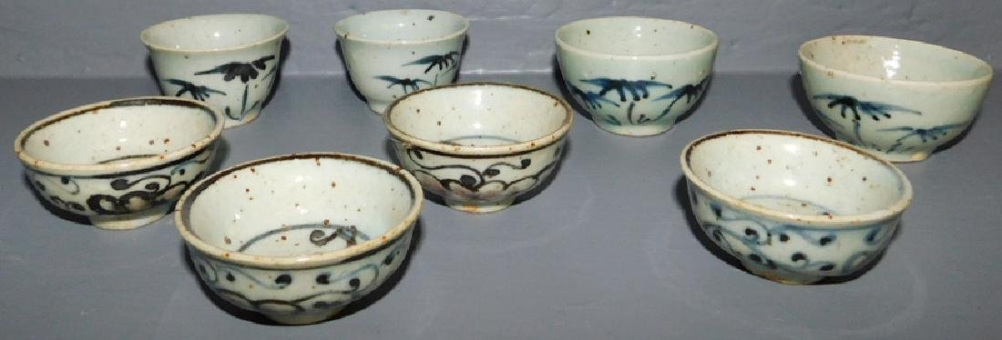 """8 Chinese dipping cups. 2 1/2"""" dia."""
