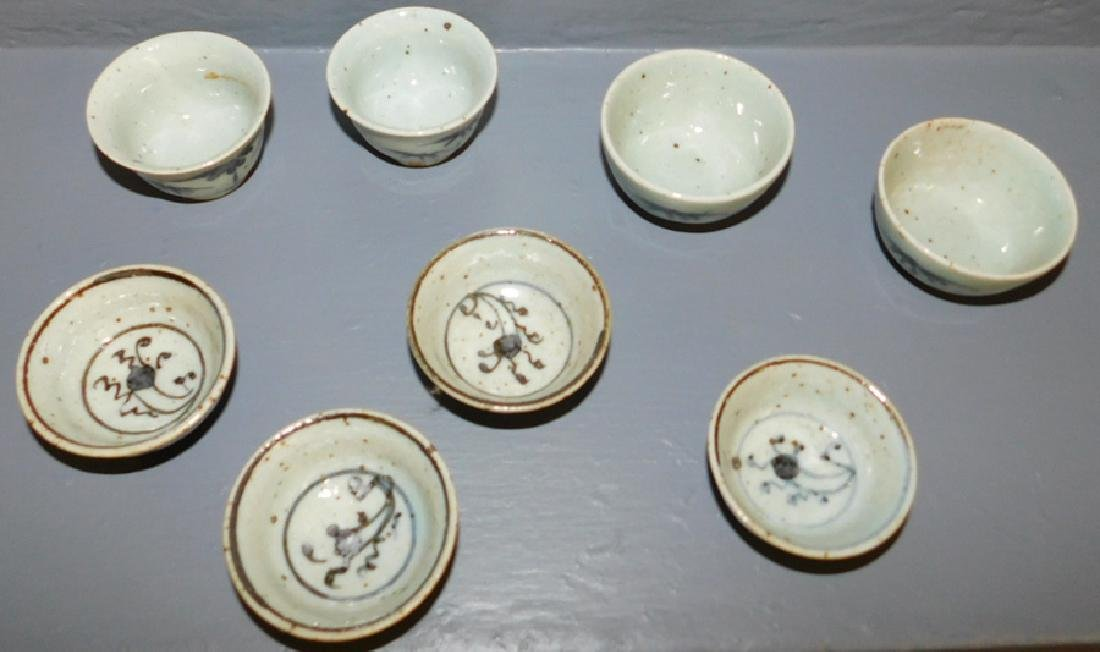 "8 Chinese dipping cups. 2 1/2"" dia. - 2"