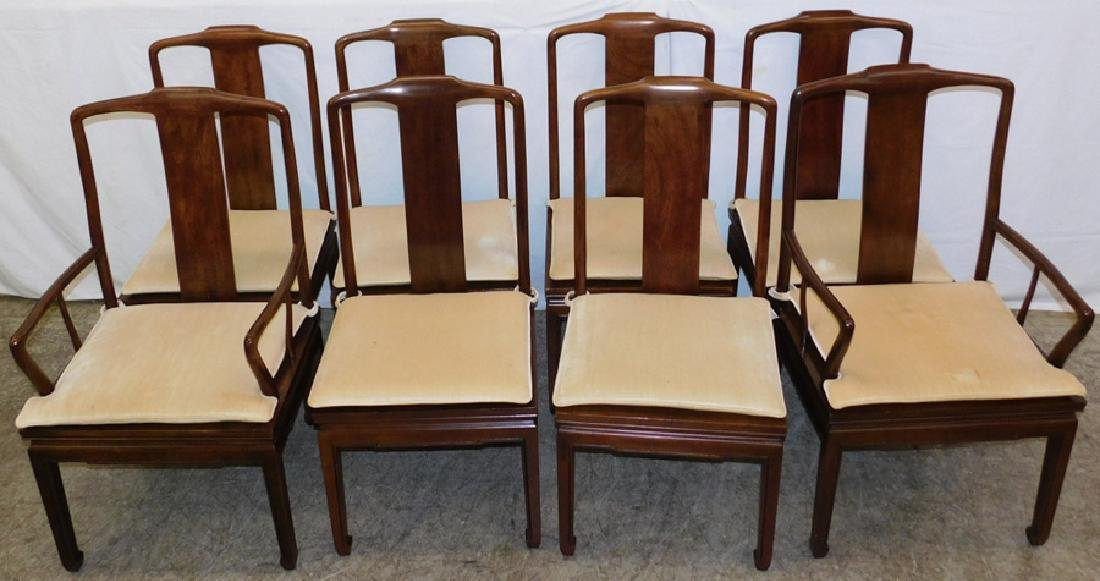 Set of 8 Henredon mahogany Chippendale chairs
