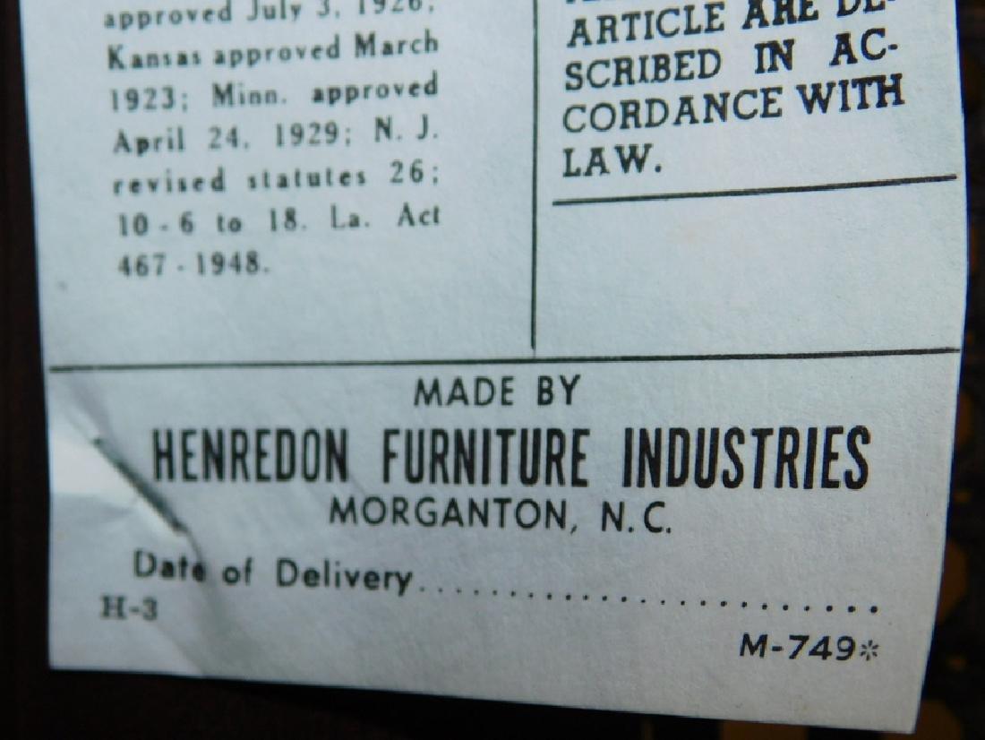 Set of 8 Henredon mahogany Chippendale chairs - 6