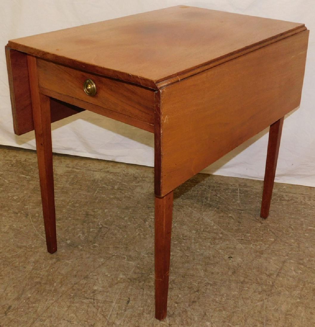 19th c HW NE Pembroke table w 3 board top