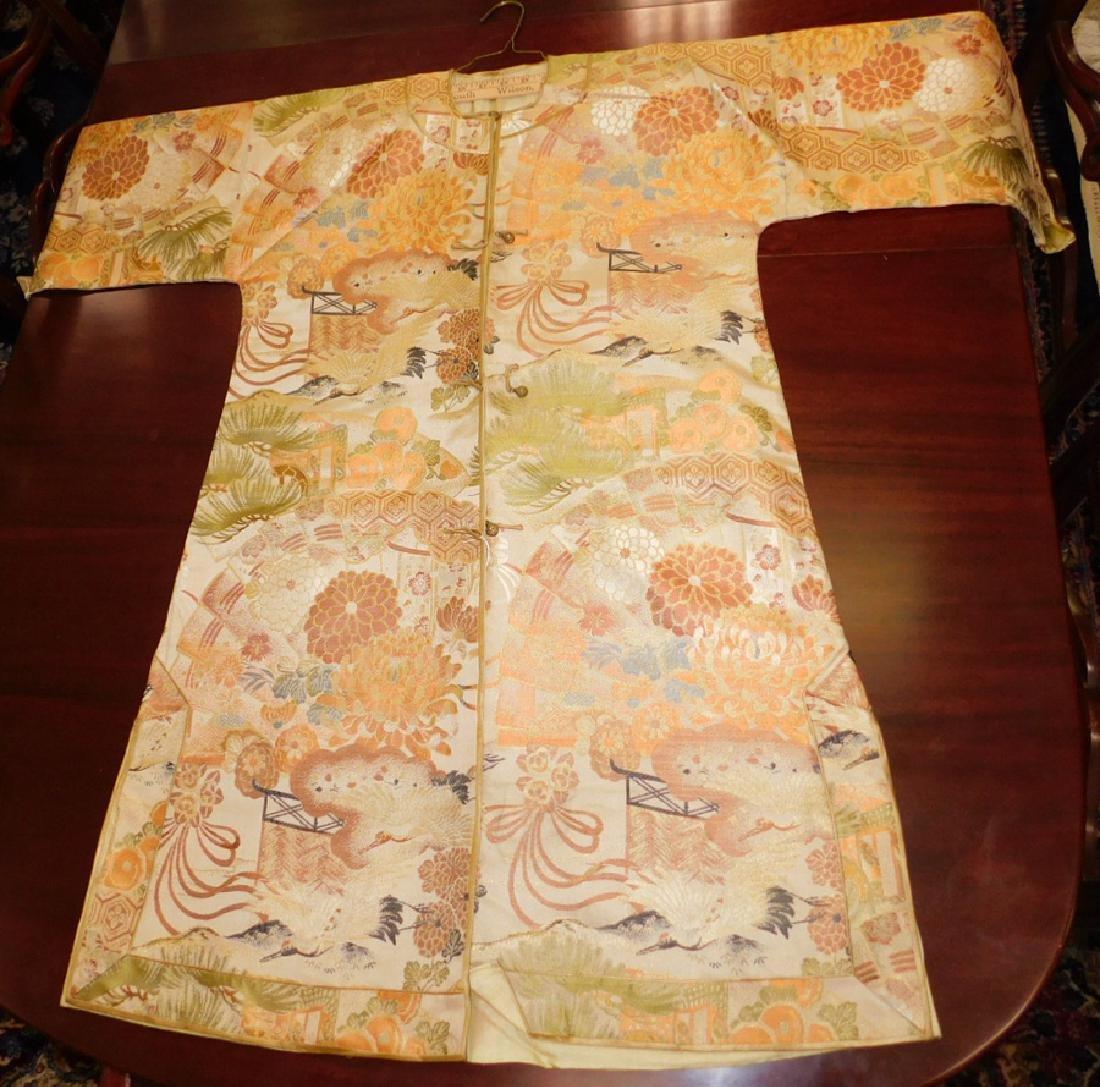 """Beautiful large Japanese silk kimono. 43"""" long."""