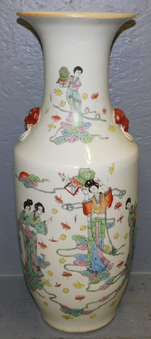 19th century Oriental hand paint decorated vase.