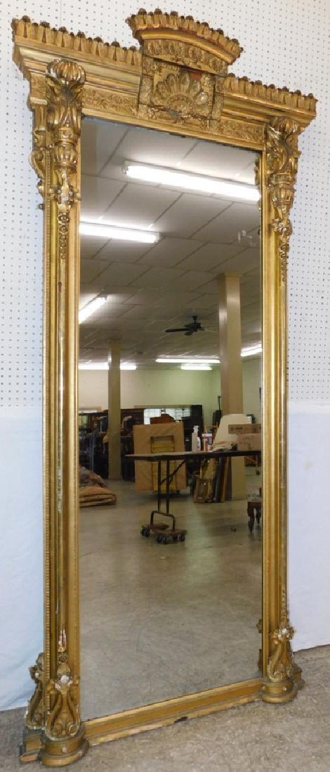 Fantastic gold leaf  French pier mirror.