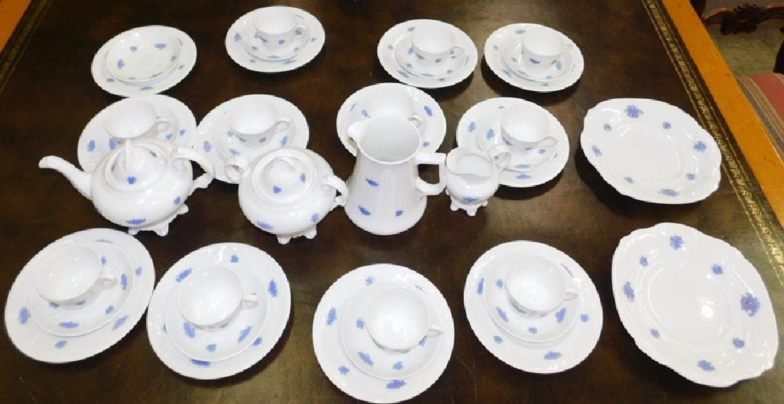 41 pc. Chelsea Blue and white decorated tea set. .
