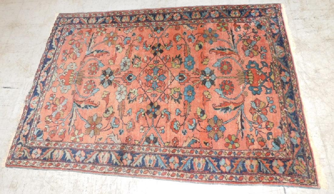 """5' x 3.5"""" antique Sarouk rug."""