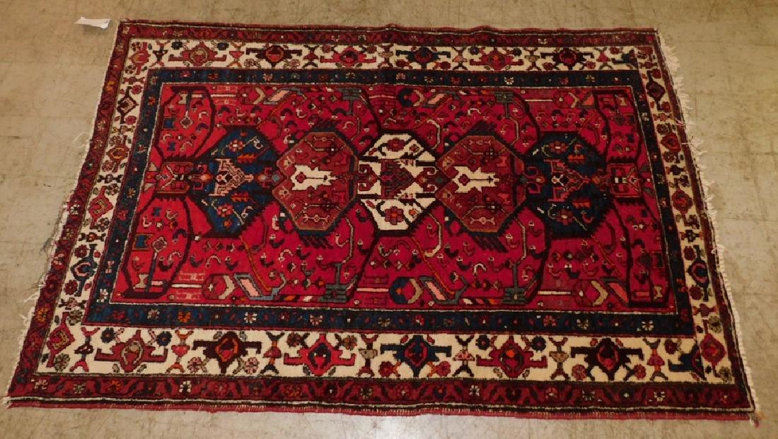 "6'5"" x 4'5"" antique Oriental rug."