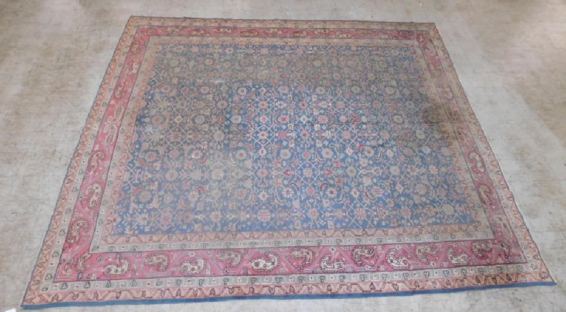 "12'2"" x 10'8"" antique Oriental rug"