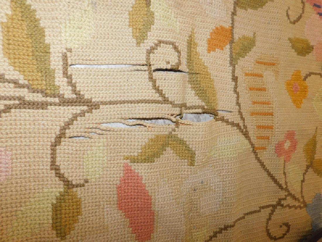 "9'9"" x 14'3"" antique needlepoint rug - 2"