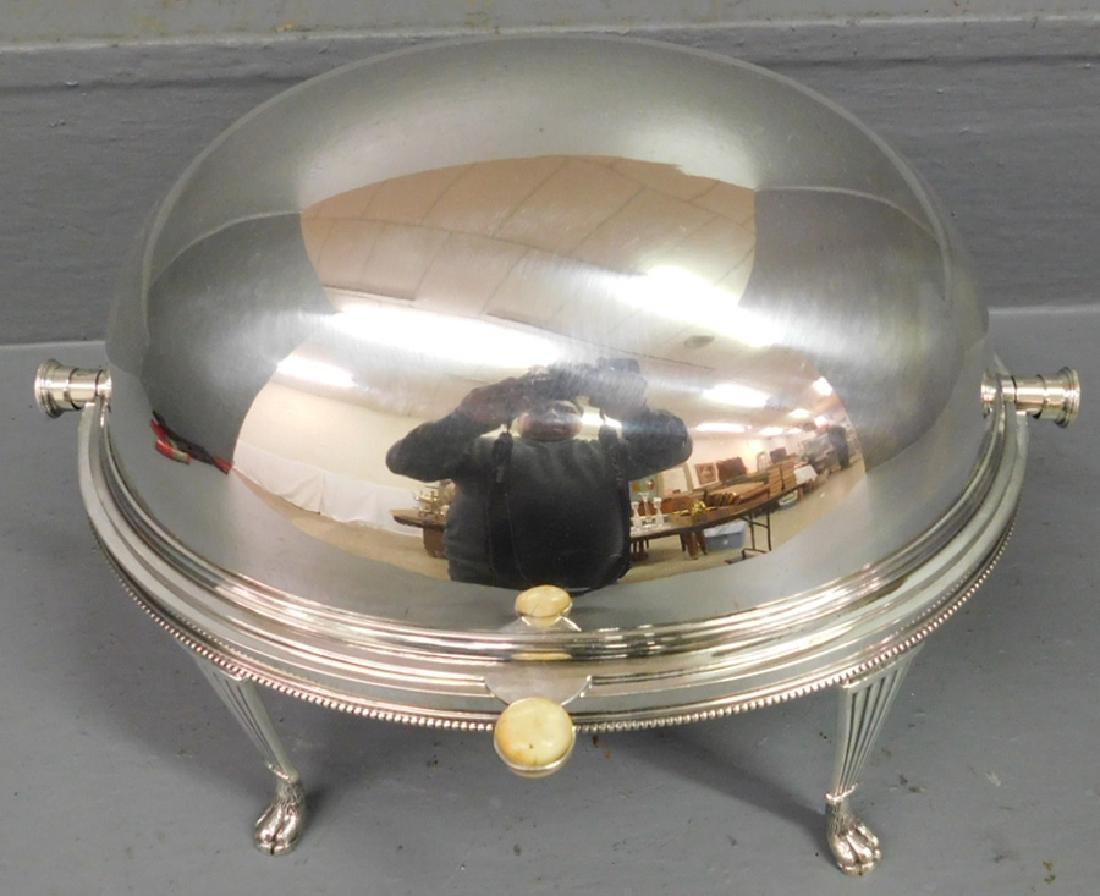 Silver plate bun warmer.