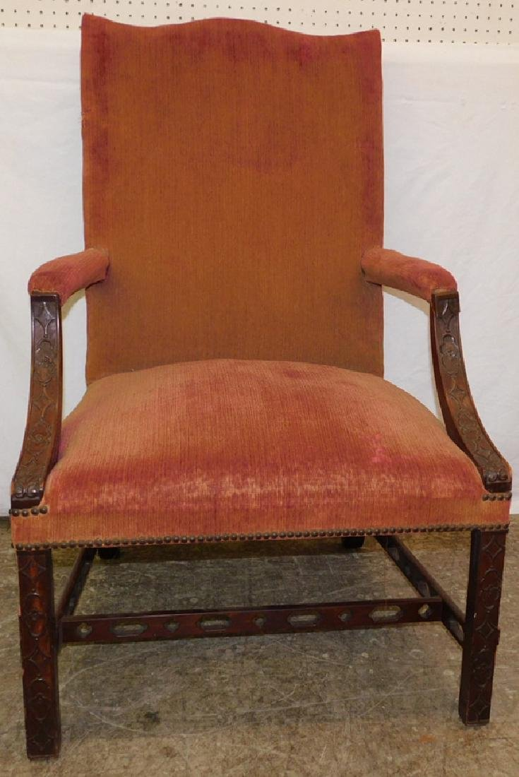 19th C Chinese Chipp. arm chair, matches #19.
